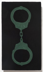 <strong><em>Fall 2</em>, 2010, enamel on powder coated steel, 10x6 inches