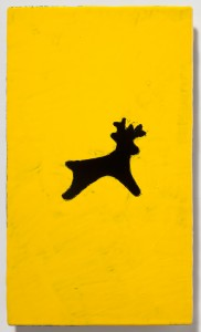 <strong><em>Winter 2</em>, 2009, oil enamel on sandblasted steel, 10x6 inches