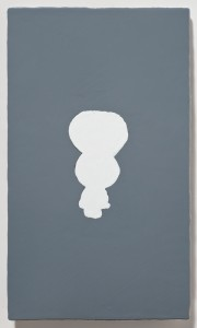 <strong><em>Winter 3</em>, 2009, oil enamel on sandblasted steel, 10x6 inches