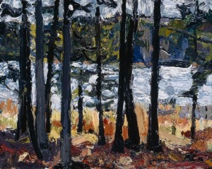 Between South Branch Road and Johns Bay, South Bristol, Maine; 1998; oil on canvas; 8 x 10 inches