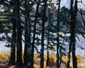Between South Branch Road and Johns Bay, South Bristol, Maine, II; 1998; oil on canvas; 8 x 10 inches