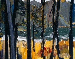 Between South Branch Road and Johns Bay, South Bristol, Maine, III; 1998; oil on canvas; 8 x 10 inches
