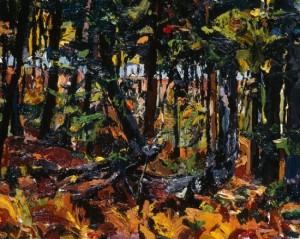 Between South Branch Road and Johns Bay, South Bristol, Maine, IV; 1998; oil on canvas; 8 x 10 inches