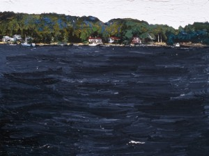 Across Johns Bay, Maine; 1998; oil on canvas; 36 x 48 inches