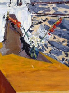 Daisies, 1997, oil on canvas, 40 x 30 inches