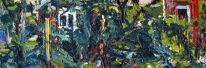 My Backyard, 1992, oil on canvas, 12 x 36 inches.