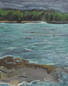 Johns Bay, Maine, Storm; 1997 - 2006; oil on canvas; 20 x 16 inches