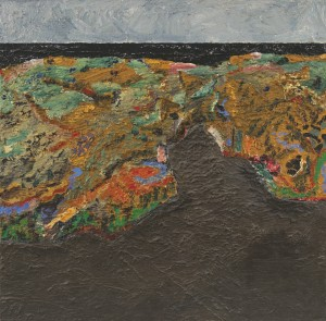 Pemaquid Point Cove, Maine; 1996 - 2006; oil on canvas; 40 1/4 x 41 inches