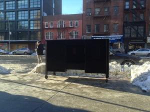 January 4, 2014 | On Bowery, outside Sperone Westwater