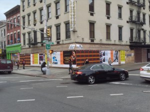 11/10/2013 | 3:08 PM | Barbara posters up | Bowery & Broome