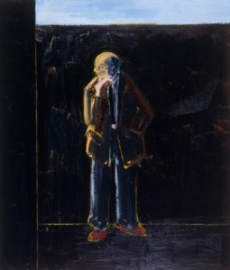 Father Smoking a Cigarette, 1998, oil on canvas, 84 x 72 inches