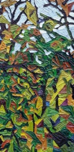 Along the Potomac 5, 1991, oil on canvas, 12 x 24 inches.