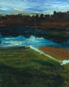 Johns Bay, Maine, Light in the Sky, 1997, oil on canvas, 20 x 16 inches
