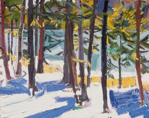 Snow, Trees and Ocean, 1999, oil on canvas, 24 x 30 inches