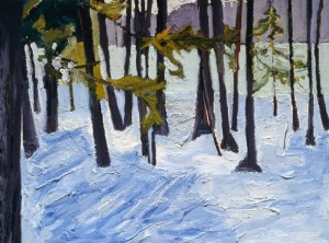 Drifts, 1999, oil on canvas, 30 x 40 inches