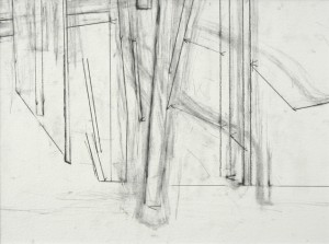 Study of Straight, 2000, graphite on paper, 22 x 28 inches